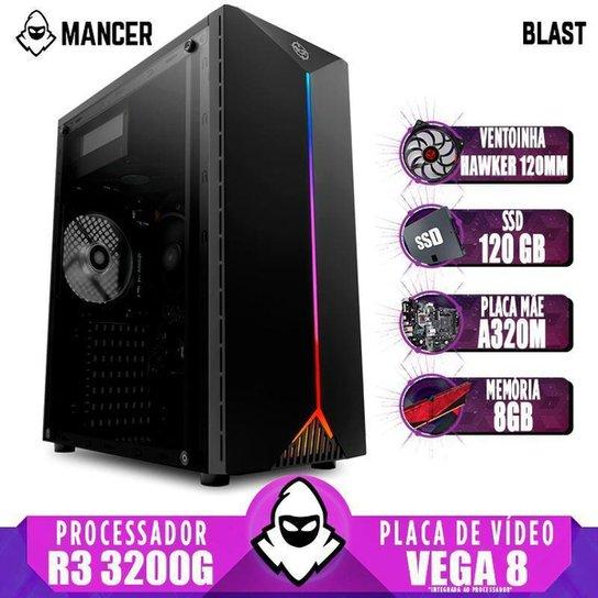 PC Gamer Mancer AMD Ryzen 3 3200G A320M 8GB DDR4 SSD 120GB 400W + Ventoinha - Preto