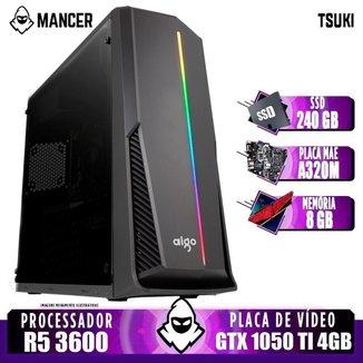 PC Gamer Mancer, AMD Ryzen 5 3600, GeForce GTX 1050 Ti 4GB, 8GB DDR4, SSD 240GB, 400W