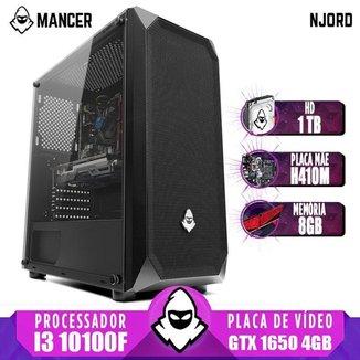 PC Gamer Mancer, Intel I3 10100F, GTX 1650 4GB, 8GB DDR4, HD 1TB, 400W