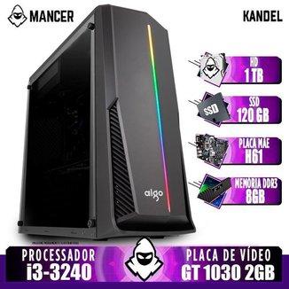 PC Gamer Mancer, Intel i3-3240, GT 1030 2GB, 8GB DDR3, HD 1TB + SSD 120GB, 500W