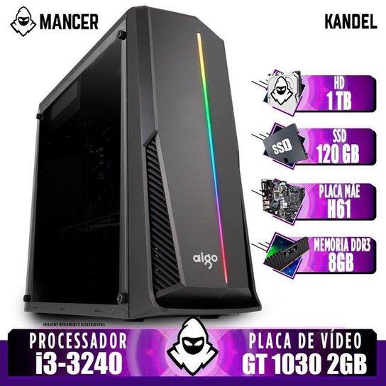 PC Gamer Mancer, Intel i3-3240, GT 1030 2GB, 8GB DDR3, HD 1TB + SSD 120GB, 500W - Preto