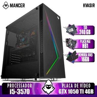 PC Gamer Mancer, Intel i5-3570, GTX 1050 Ti 4GB, 16GB DDR3, SSD 240GB, 500W