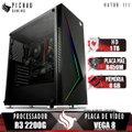 PC Gamer Pichau Hator III, AMD Ryzen 3 2200G, B450M, 8GB DDR4, HD 1TB, 400W