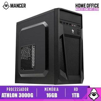 PC Home Mancer, AMD Athlon 3000G, 16GB DDR4, HD 1TB, 500W