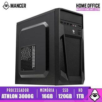 PC Home Mancer, AMD Athlon 3000G, 16GB DDR4, HD 1TB + SSD 120GB, 500W