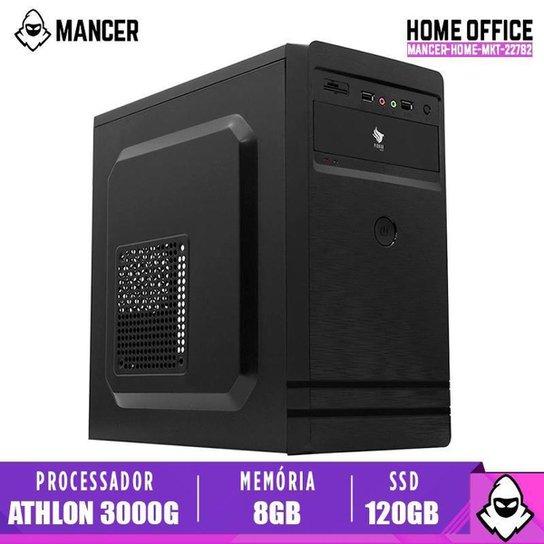 PC Home Mancer, AMD Athlon 3000G, 8GB DDR4, SSD 120GB, 500W - Preto