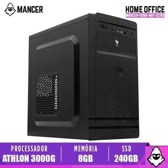 PC Home Mancer, AMD Athlon 3000G, 8GB DDR4, SSD 240GB, 500W - Preto