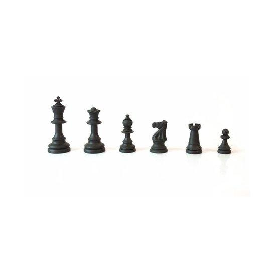 Peças para xadrez oficial em plastico rei 9cm - Preto+Branco