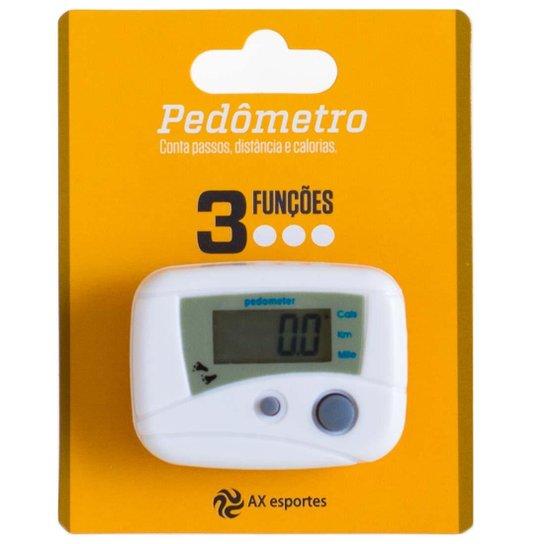 Pedômetro Digital AX Esportes com 3 Funções - FA507 - Branco