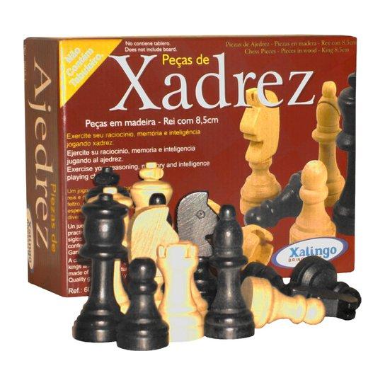 Pedras De Xadrez Xalingo - Laranja+Preto