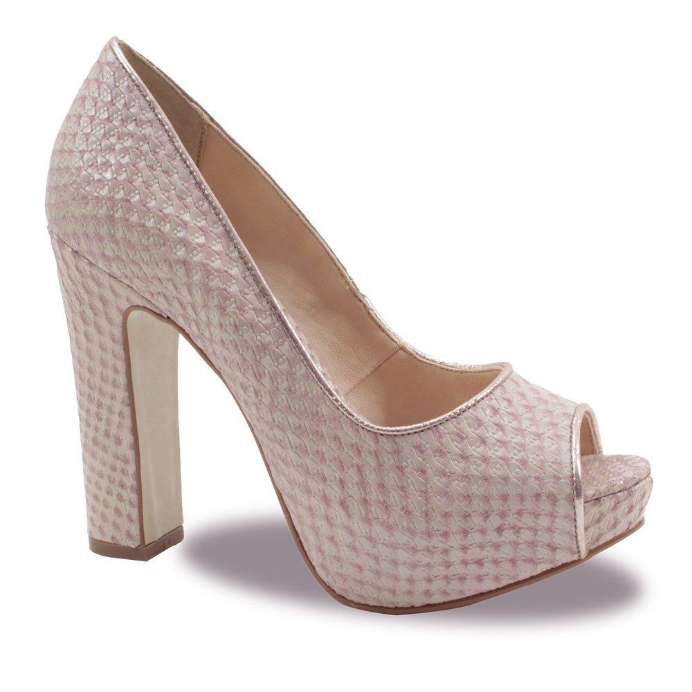 f5534a5d03 Peep Toe Feminino Bottero Couro Caseina - Compre Agora