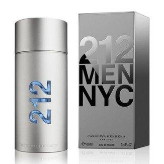 perfume 212 men carolina herrera eau de toilette 100ml