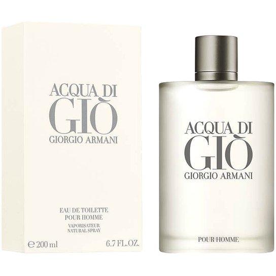 Perfume Acqua di Giò Masculino Giorgio Armani EDT 200ml - Incolor