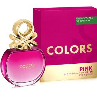 Perfume Feminino Colors Pink Benetton Eau de Toilette 80ml