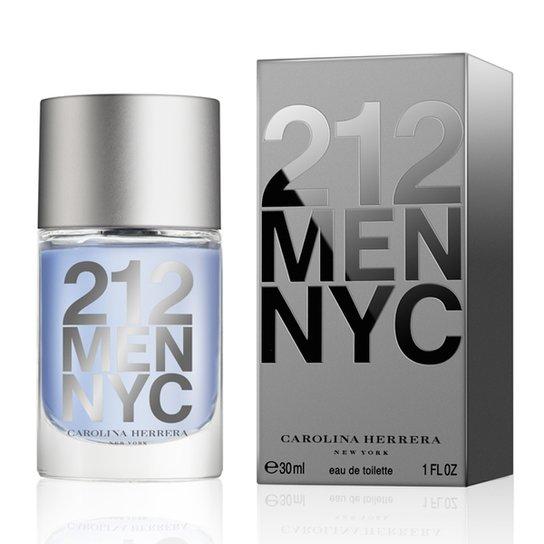Perfume Masculino 212 Men Carolina Herrera Eau de Toilette 30ml - Incolor