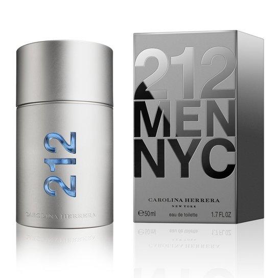 Perfume Masculino 212 Men Carolina Herrera Eau de Toilette 50ml - Incolor