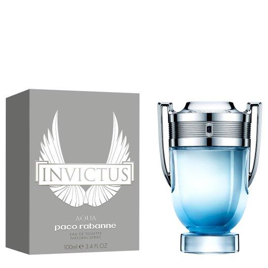 Perfume Masculino Invictus Aqua Paco Rabanne Eau de Toilette 100ml - Incolor