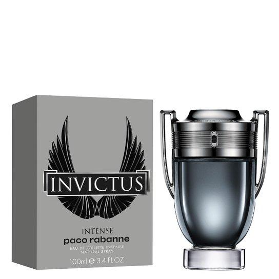 Perfume Masculino Invictus Intense Paco Rabanne Eau de Toilette 100ml - Incolor
