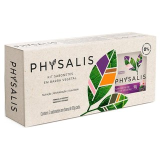 Physalis Pura Vitalidade Hibiscus e Amora Kit – 3 Sabonetes em Barra Kit
