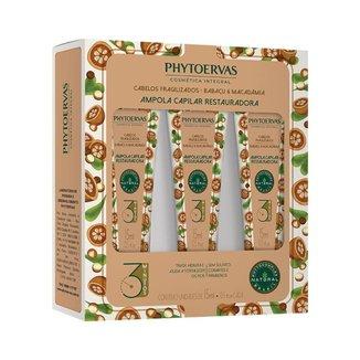 Phytoervas Babaçu e Macadâmia Ampola de Tratamento Restaurador 3x 15ml