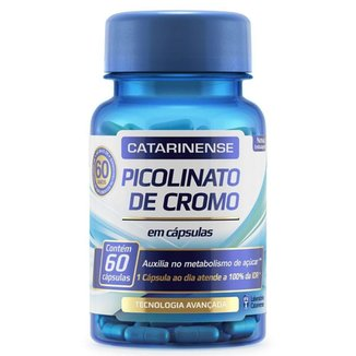 Picolinato de Cromo - 60 cápsulas - Catarinense