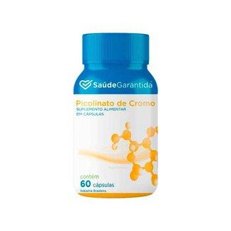 Picolinato de Cromo Suplemento Alimentar 60 cápsulas Saúde Garantida