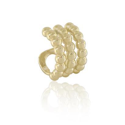 Piercing de encaixe Piuka Lexie Tres Fileiras Folheado a ouro 18K - Feminino