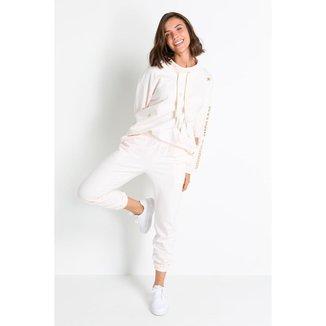 Pijama Acuo Conjunto Longo Moleton Mulher Maravilha Feminino