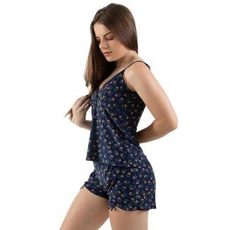 Pijama Baby Doll 4 Estações Linha Noite  Liganete Sem Bojo Feminino