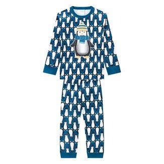 Pijama Bebê Kyly Longo Pinguim Brilha no Escuro Masculino