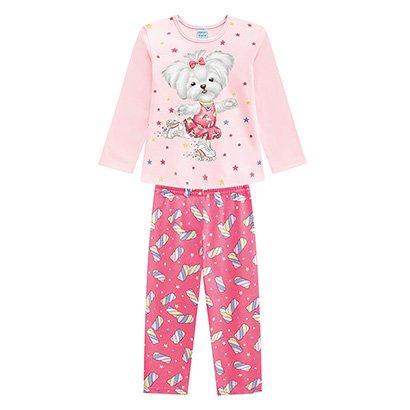 Pijama Bebe Longo Kyly Patins Brilha No Escuro Feminino