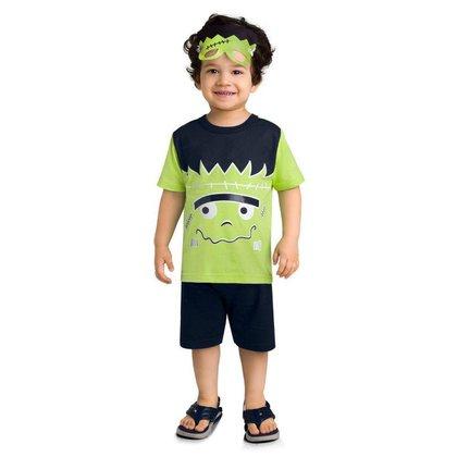 Pijama Brandili Malha Brilha No Escuro Com Máscara Infantil
