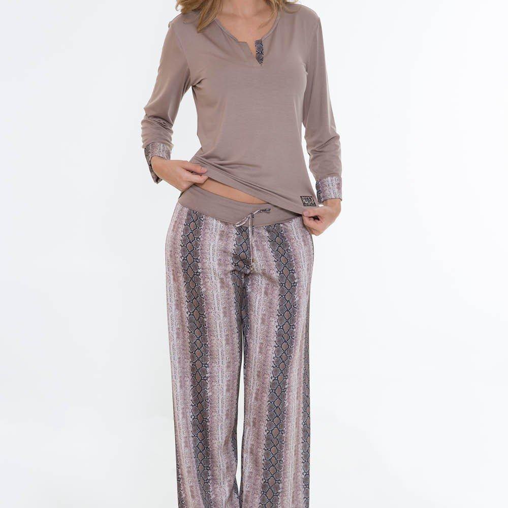 Pijama Marrom Comprido Comprido Recco Recco Marrom Pijama 08341 Pijama Recco Marrom 08341 Comprido 08341 rwrqvdCX
