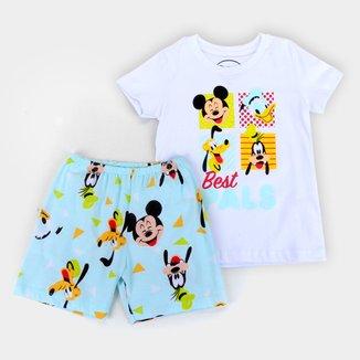 Pijama Curto Bebê Evanilda Disney Mickey and Friends Masculino