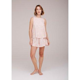 Pijama Curto Feminino Estampado - 7CMB1BEN2