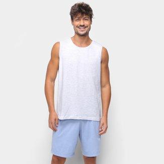 Pijama Curto Hering Regata Mescla Masculino