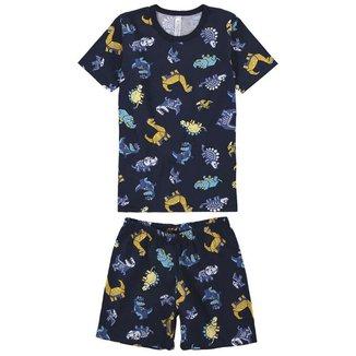 Pijama Curto Infantil Masculino Malwee Liberta Estampado