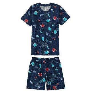Pijama Curto Masculino Infantil Estampado