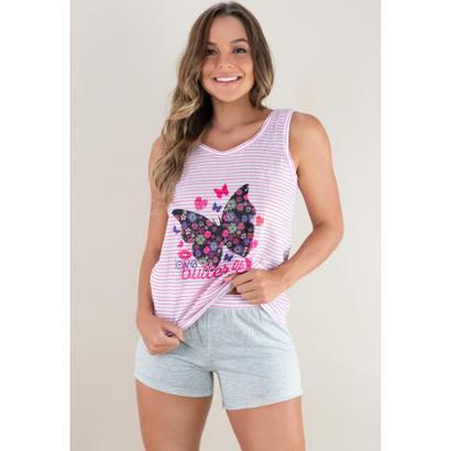 Pijama Curto Shortdoll Noite Mvb Modas Feminino