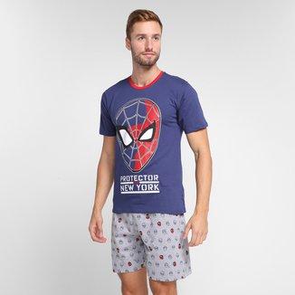 Pijama Evanilda Marvel Homem-Aranha Masculino