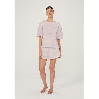 Pijama Feminino Curto Em Algodão Estampado - 7CEV1AEN10
