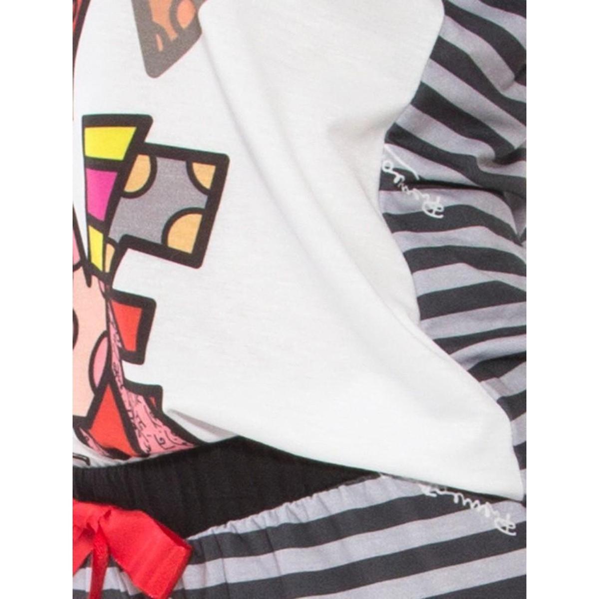 09175 Femino Recco Pijama Verão Curto Curto Recco Femino Pijama Branco Verão XTAzqwSnx