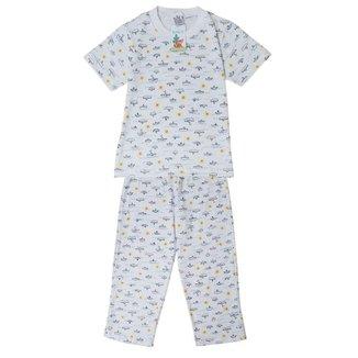 Pijama Infantil Babié Masculino Longo Barquinho em Malha