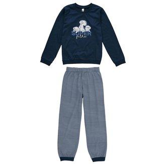 Pijama Infantil Bebê Inverno Super Filho Malwee Kids Masculina