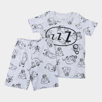 Pijama Infantil Brandili Bichinho Preguiça Masculino