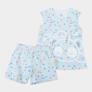 Pijama Infantil Brandili Brilha No Escuro Feminino