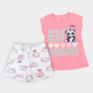 Pijama Infantil Brandili Pandinha Feminino