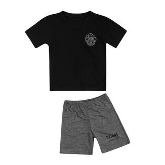 Pijama Infantil Caioba Soccer Camp Manga Curta Marinho Masculino