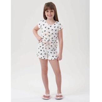 Pijama Infantil adidas argentina sweater line drawing free Shorts Doll Cerejinha Feminino