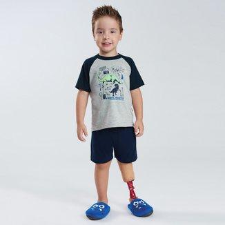 Pijama Infantil Curto Pulla Bulla Dinossauros Masculino